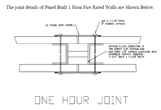 how to build a fire rated boundary wall