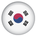 A tiny Korea Flag for contact number