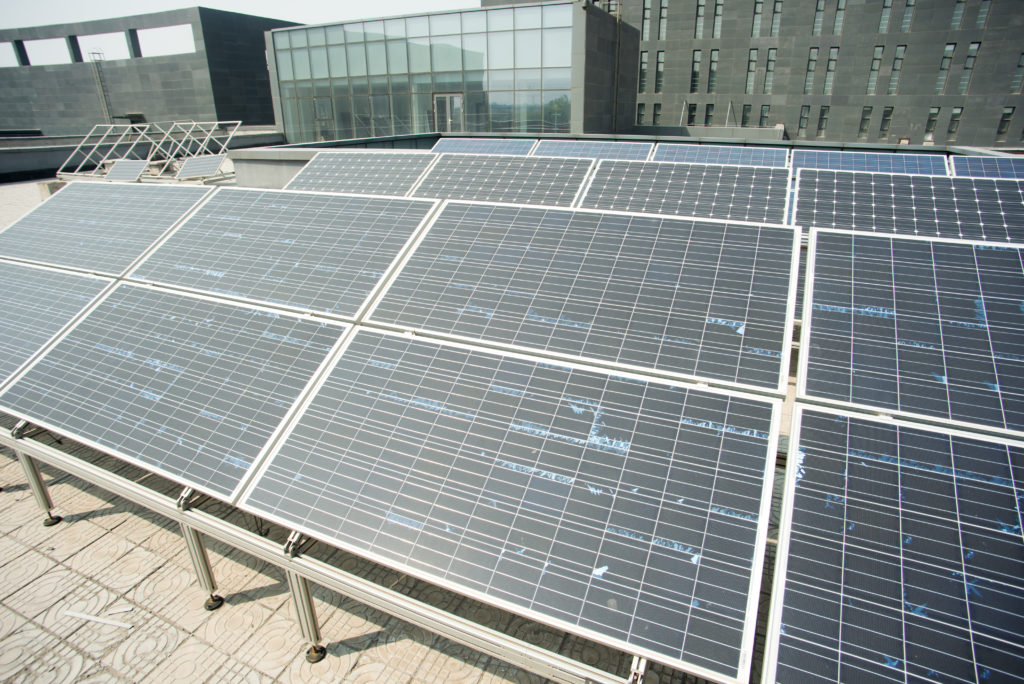 Solar power generation equipment on roof