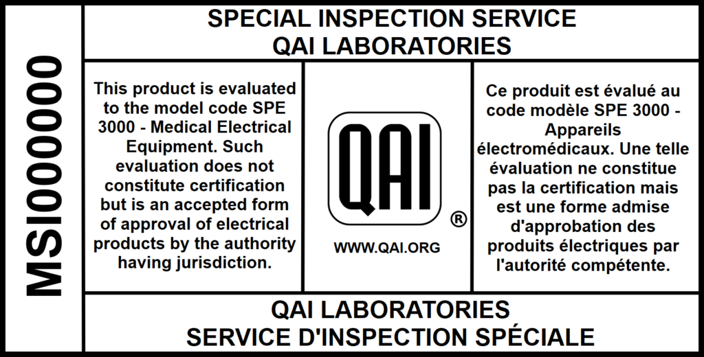 Special Inspection Label Sample QAI