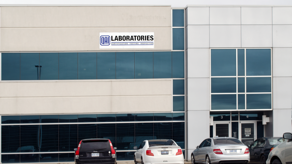 Exterior photo of QAI Testin gLaboratory in Toronto Ontario