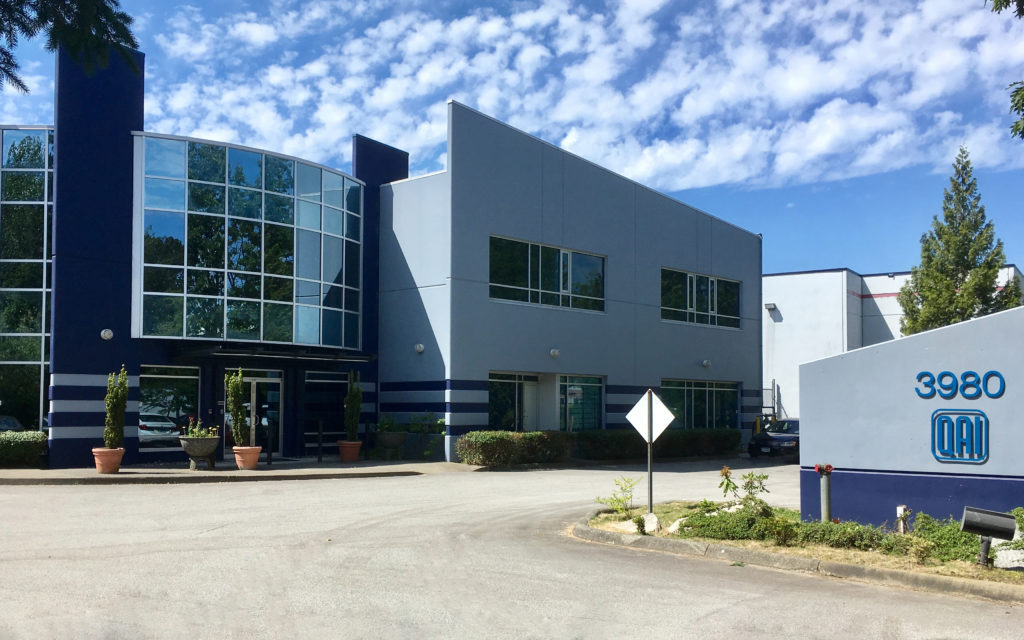Exterior of QAI Laboratories Building in Burnaby BC
