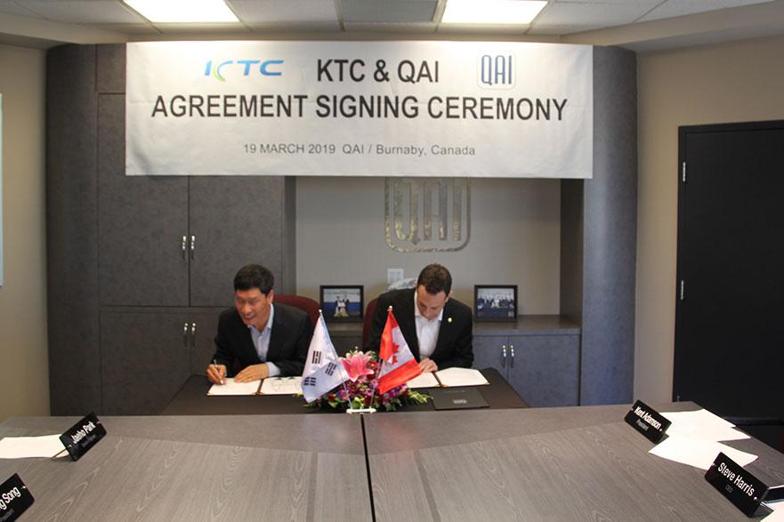 QAI and KTC Agreement Signing Ceremony   QAI