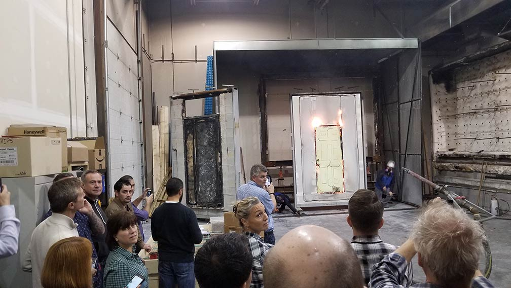 VBO Demostration at QAI Fire Door Water Test to be Performed