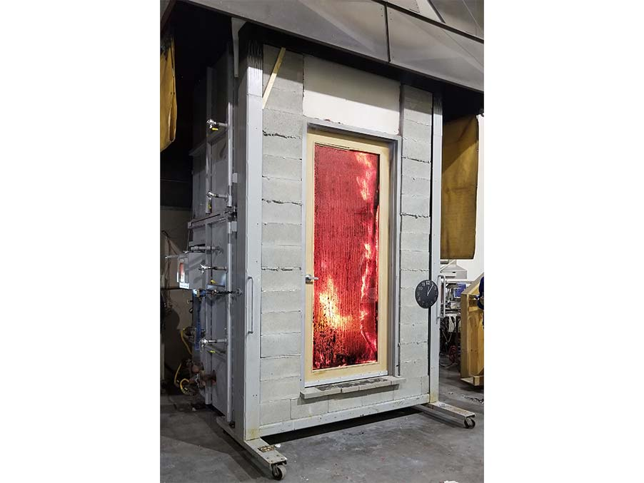 Testing Fire Door in Lab