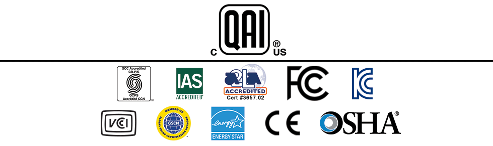 Logo of some of the accreditors of QAI