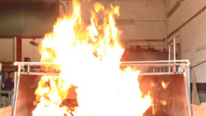 Fire Test on Building Products