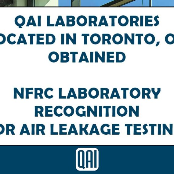 Image of Air Leakage Testing NFRC Recognized