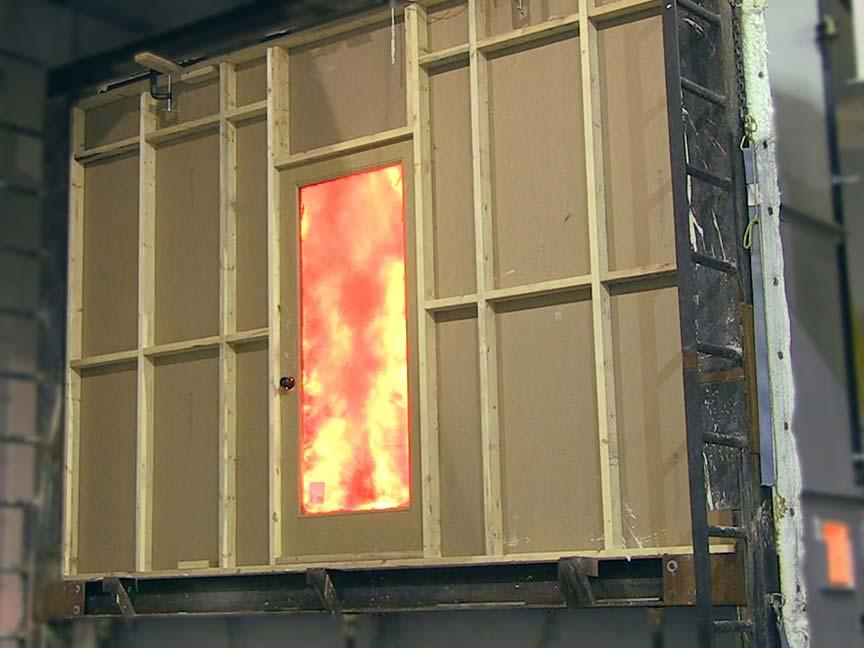 Fire Door Wall performing Test on a Door