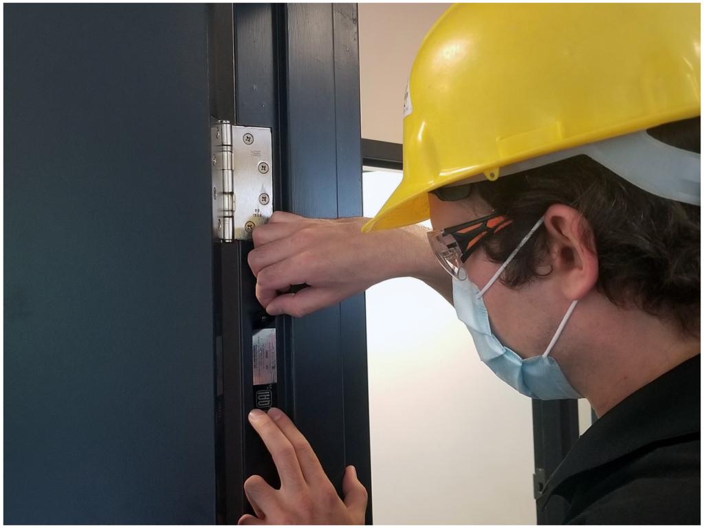 Inspecting Fire Door Label